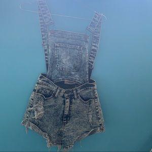 Denim Overall Shorts (Detachable) NEW!